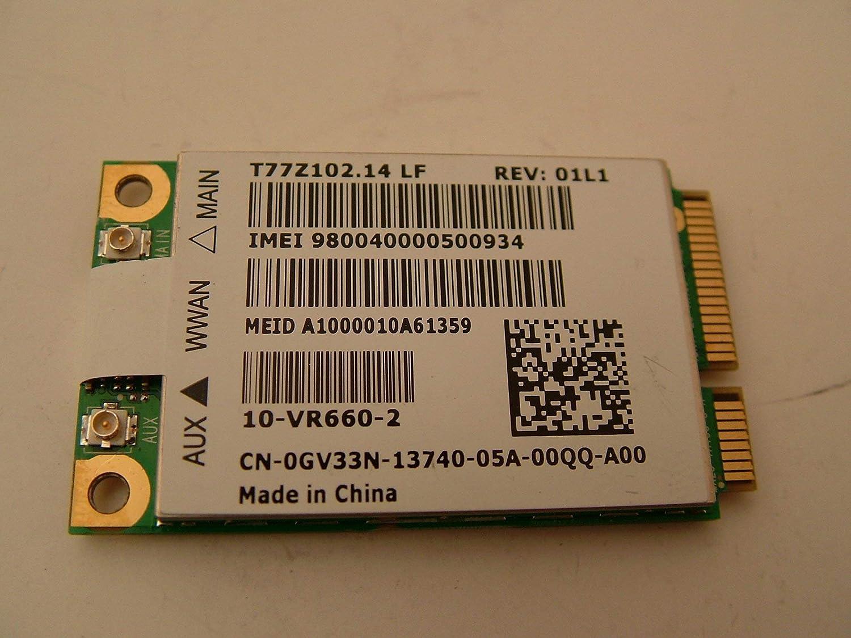Dell GV33N WWAN Cellular Mobile Broadband 5620 Wireless Card Latitude XT2 XFR E4310