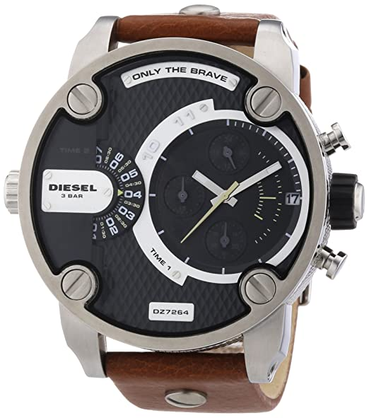Diesel DZ7264 - Reloj cronógrafo de cuarzo para hombre con correa de piel, color marrón: Amazon.es: Relojes