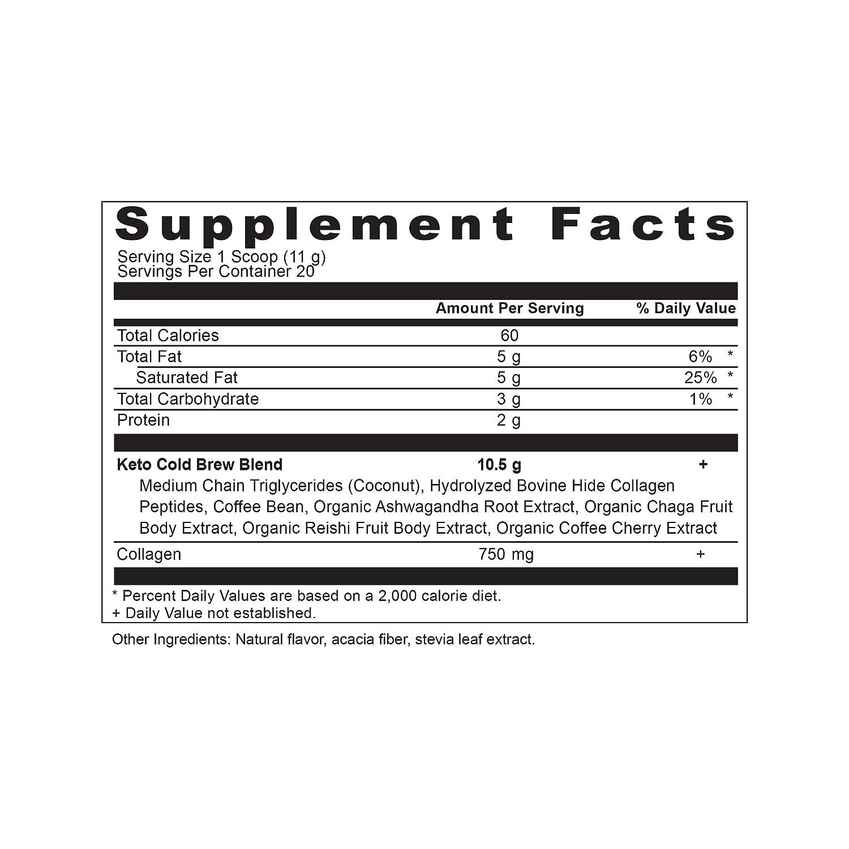 Ancient Nutrition KetoCOLDBREW Energy Elixir Powder, 20 Servings