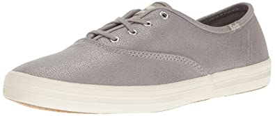62437fdf54320 Keds Women s Champion Metallic Canvas Fashion Sneaker Silver 5 ...