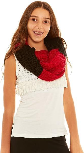 Crush Girls Ribbed Knit Loop Infinity Scarf
