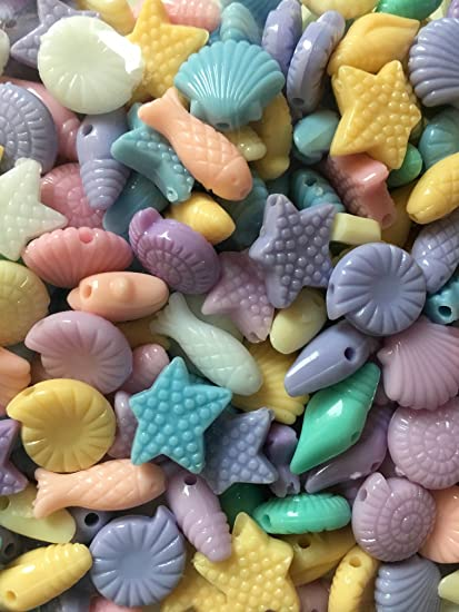 Amazon Ocean Animals Shell Seashellplastic Beads Crafts