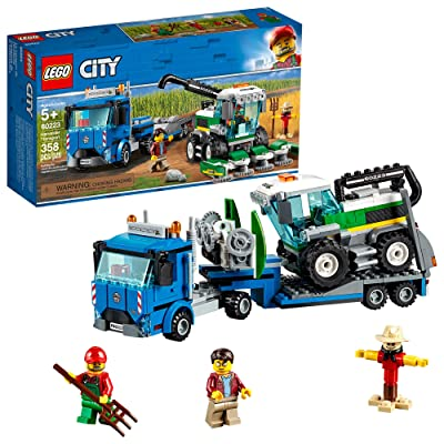 LEGO City Great Vehicles Harvester Transport 60223 Building Kit (358 Pieces): Toys & Games