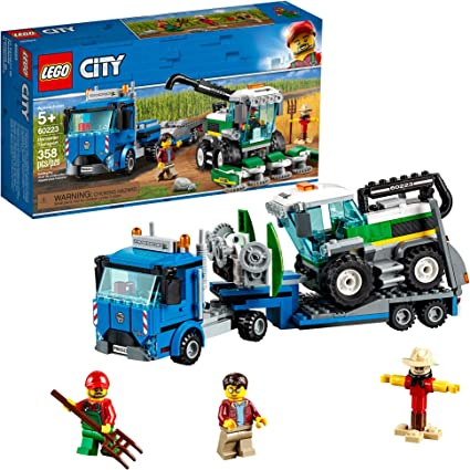 LEGO City Great Vehicles Harvester Transport 60223 Building Kit, 2019 (358 Pieces)