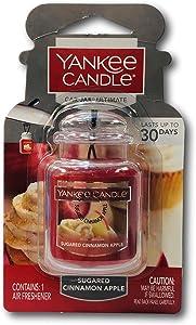 Yankee Candle Sugared Cinnamon Apple Car Jar Ultimate, Fruit Scent