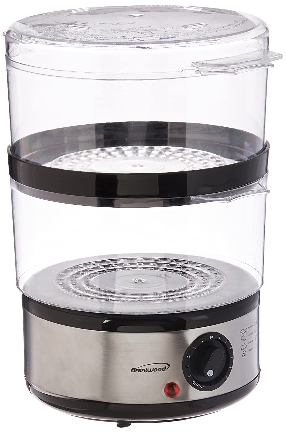 Brentwood TS-1005 Electric Food Steamer One Size Silver