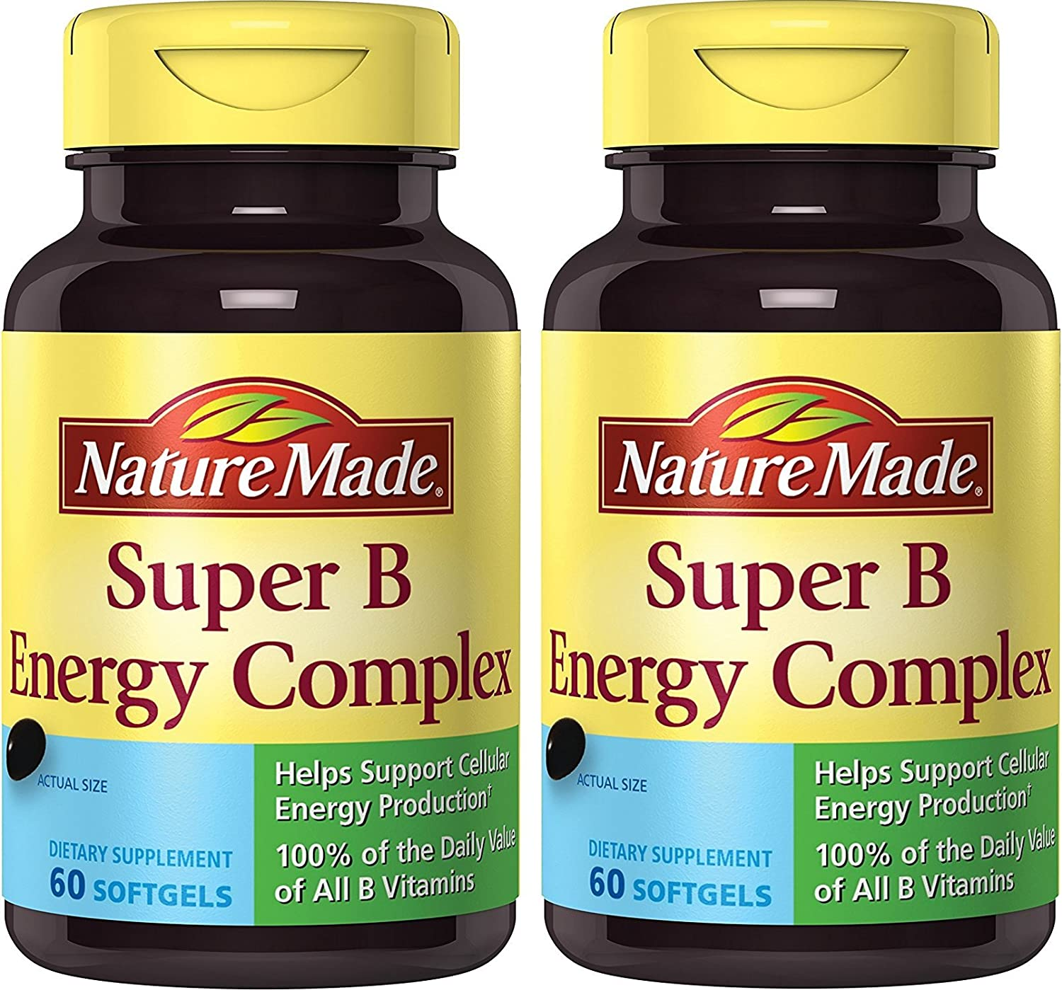 Nature Made Super B Complex Full ZfIKwL Strength Softgel (Packaging May Vary), 60 Count (Pack of 2)