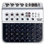 Neewer Mélangeur Stéréo Compacte Mini Console de Mixage avec 4 Canaux 2-Voie Entrée Ligne Stéréo RCA Entrée Sortie Indicateur de Niveau LED à 4 Bandes pour Microphone d'Ordinateur et Autres Instruments de Musique (NW-04AU)