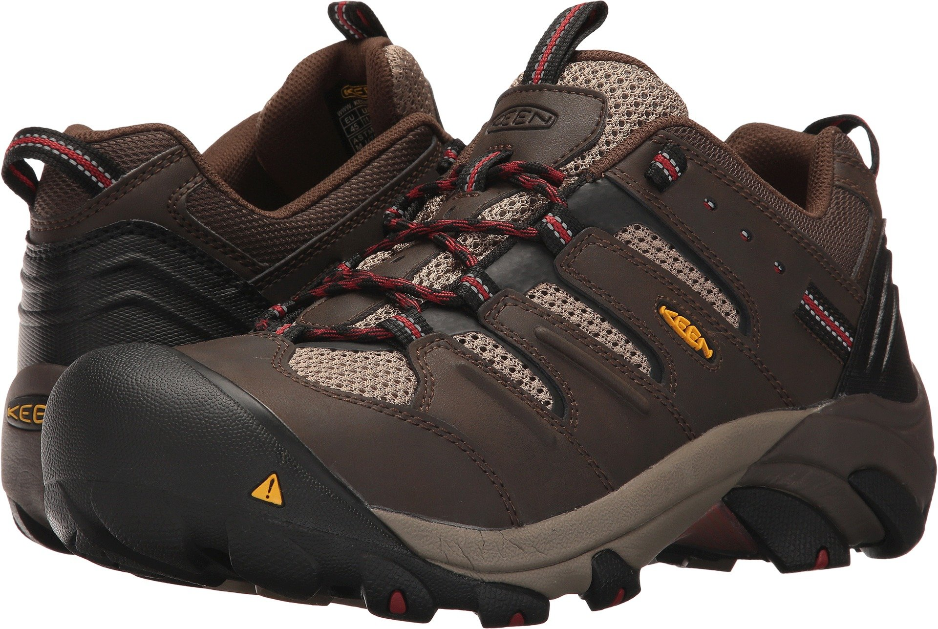 KEEN Utility Men's Lansing Low Industrial and Construction Shoe, Cascade Brown/Bossa Nova, 12 D US