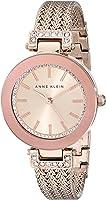 Anne Klein Rose Goldtone Crystal Watch