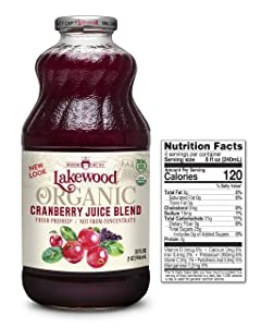 Lakewood Organic Cranberry Juice Blend, 32-Ounce Bottles (Pack of 6)
