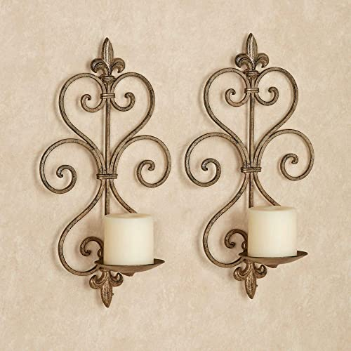 Touch of Class Charles Wall Sconce Pair Antique Gold Pair
