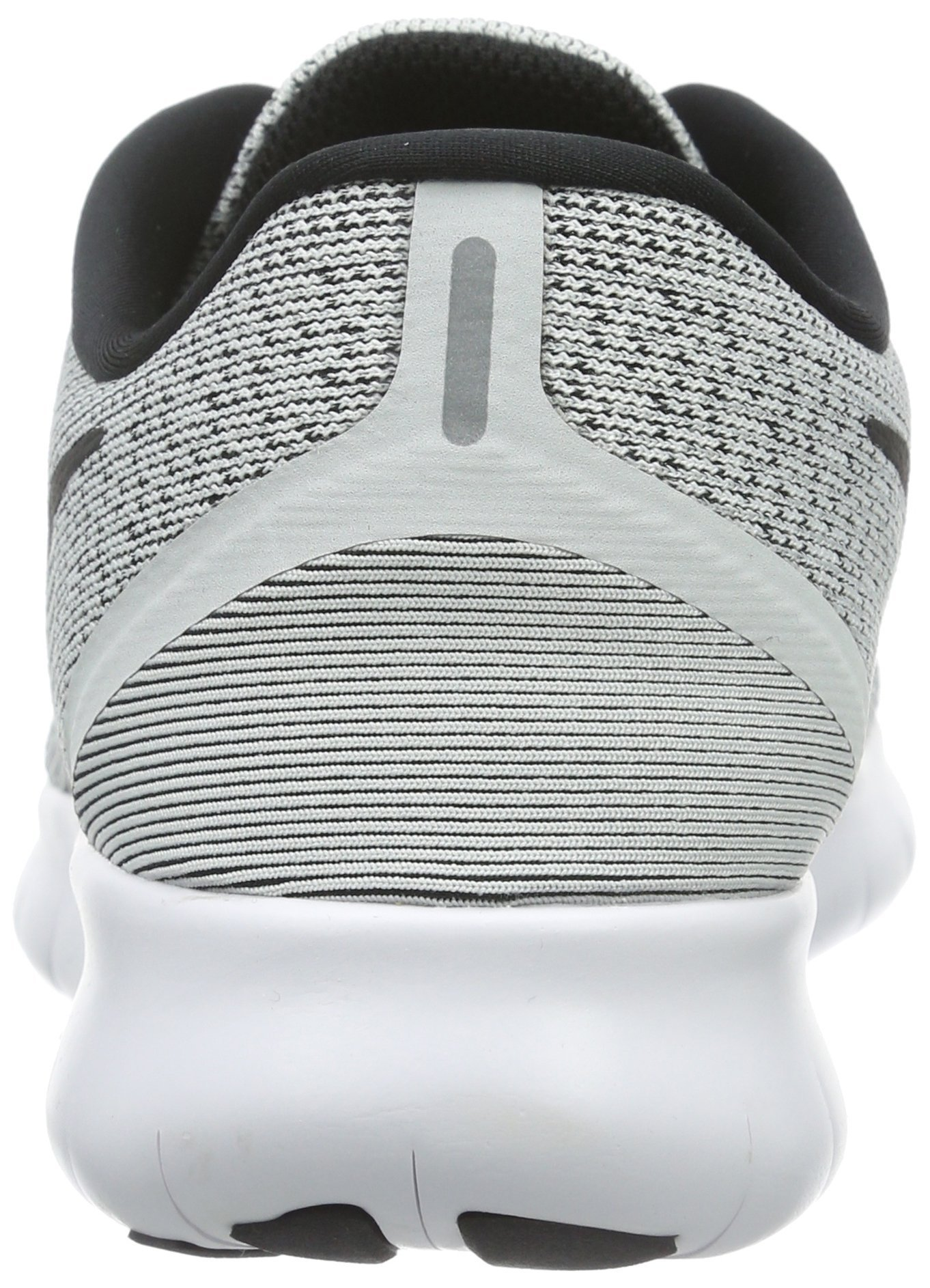 Nike Womens Free RN Running Shoe White/Black/Pure Platinum 6 by Nike (Image #2)