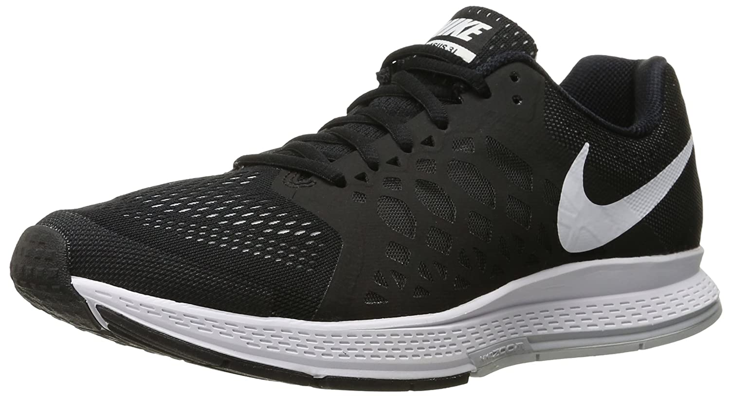 hot sale online aefc4 0cd3b Nike Men s Zoom Pegasus 31 Black, White Running Shoes -7 UK India (41 EU)(8  US)  Buy Online at Low Prices in India - Amazon.in