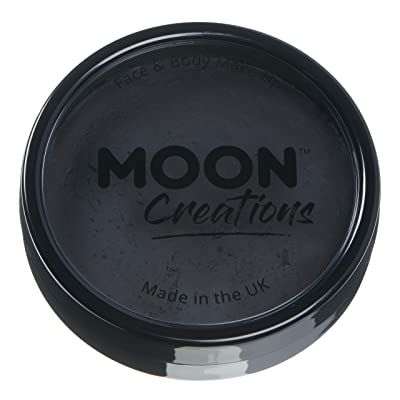Moon Creations - Pro Face & Body Paint Cake Pots - Black: Clothing