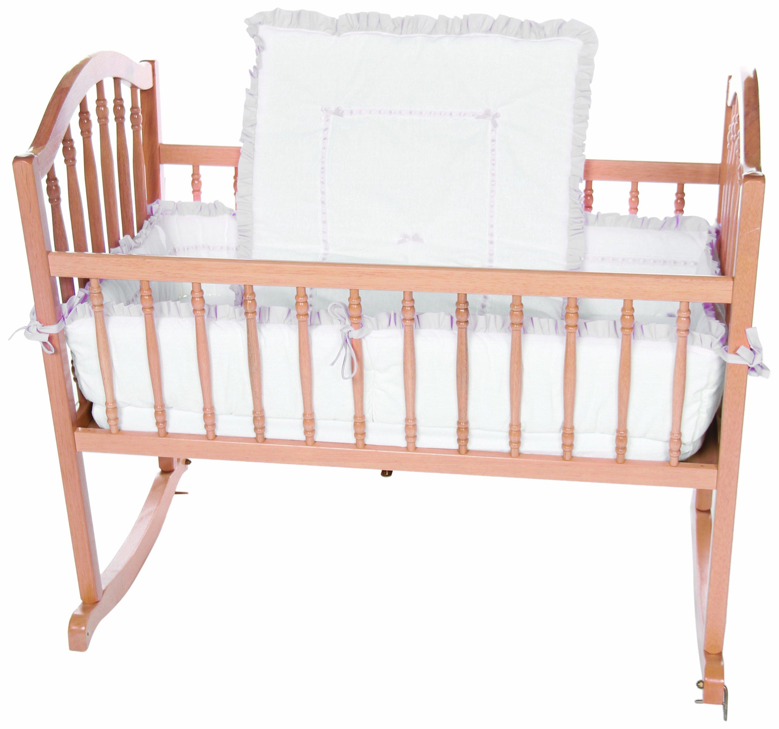 Baby Doll Bedding Unique Cradle Bedding Set, Grey by BabyDoll Bedding