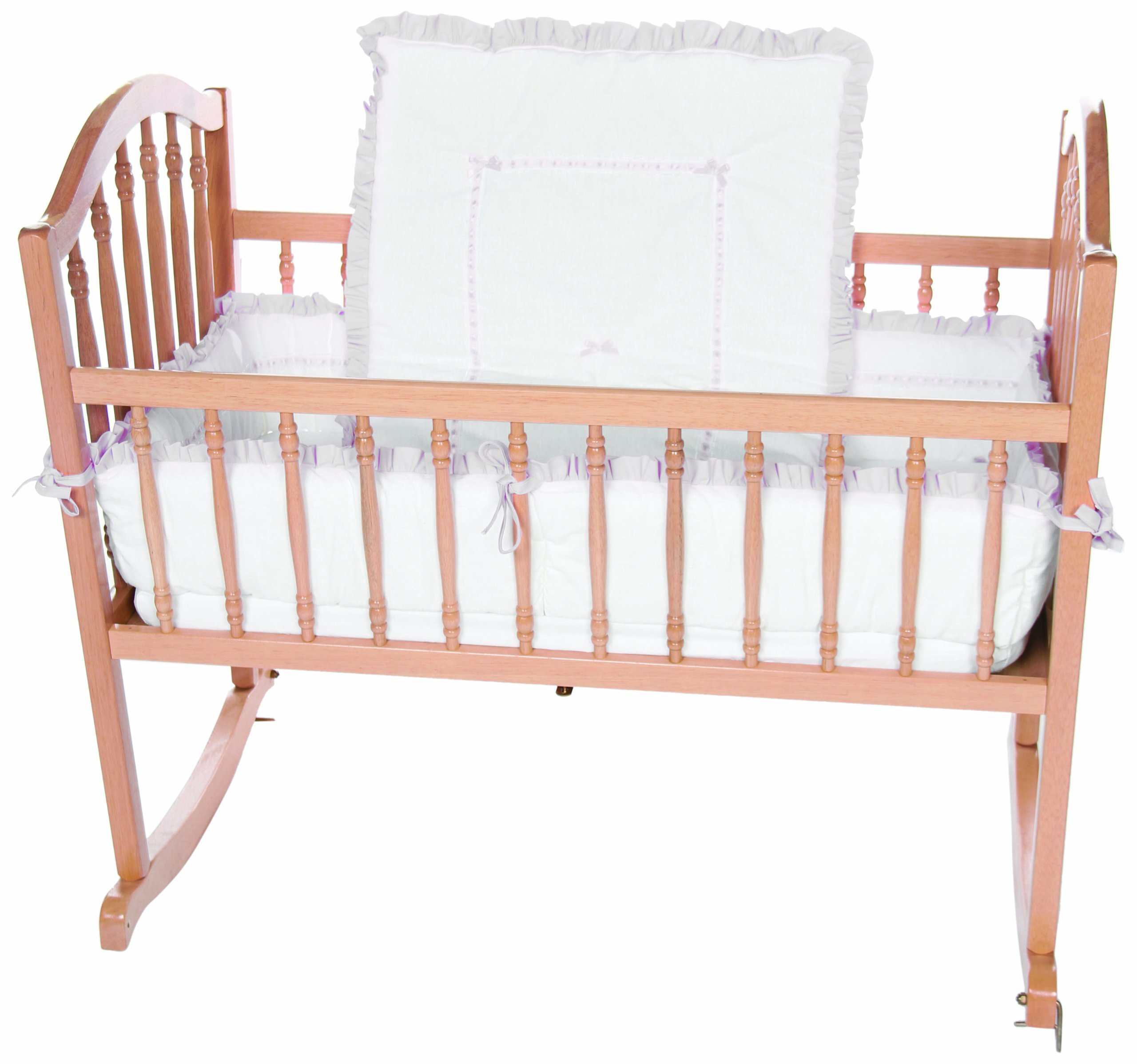 Baby Doll Bedding Unique Cradle Bedding Set, Grey