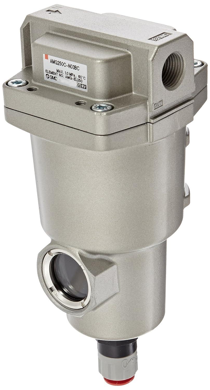 SMC AMG250C-N03BC Water Separator, N.C. Auto Drain, 750 L/min, 3/8' NPT, Mounting Bracket 3/8 NPT