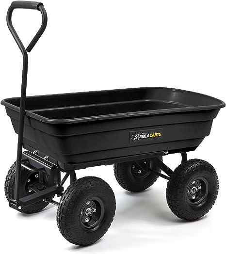 Amazon.com: Carrito para desperdicios de jardín ...
