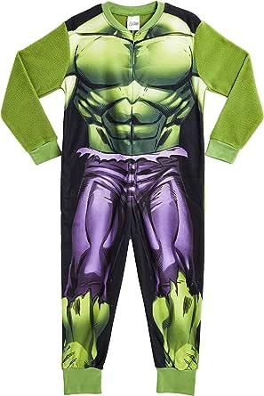 Marvel Onesie para Niños   Mono Infantil con Personajes Hulk Y Avengers Onesie Pijama para Niños   Mono Pijama Todo En Uno para Niños   Regalo para Niños