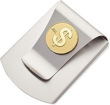 Slim Double Sided Metal Money Clip Cash Bills Credit Card ID Holder Silver Steel