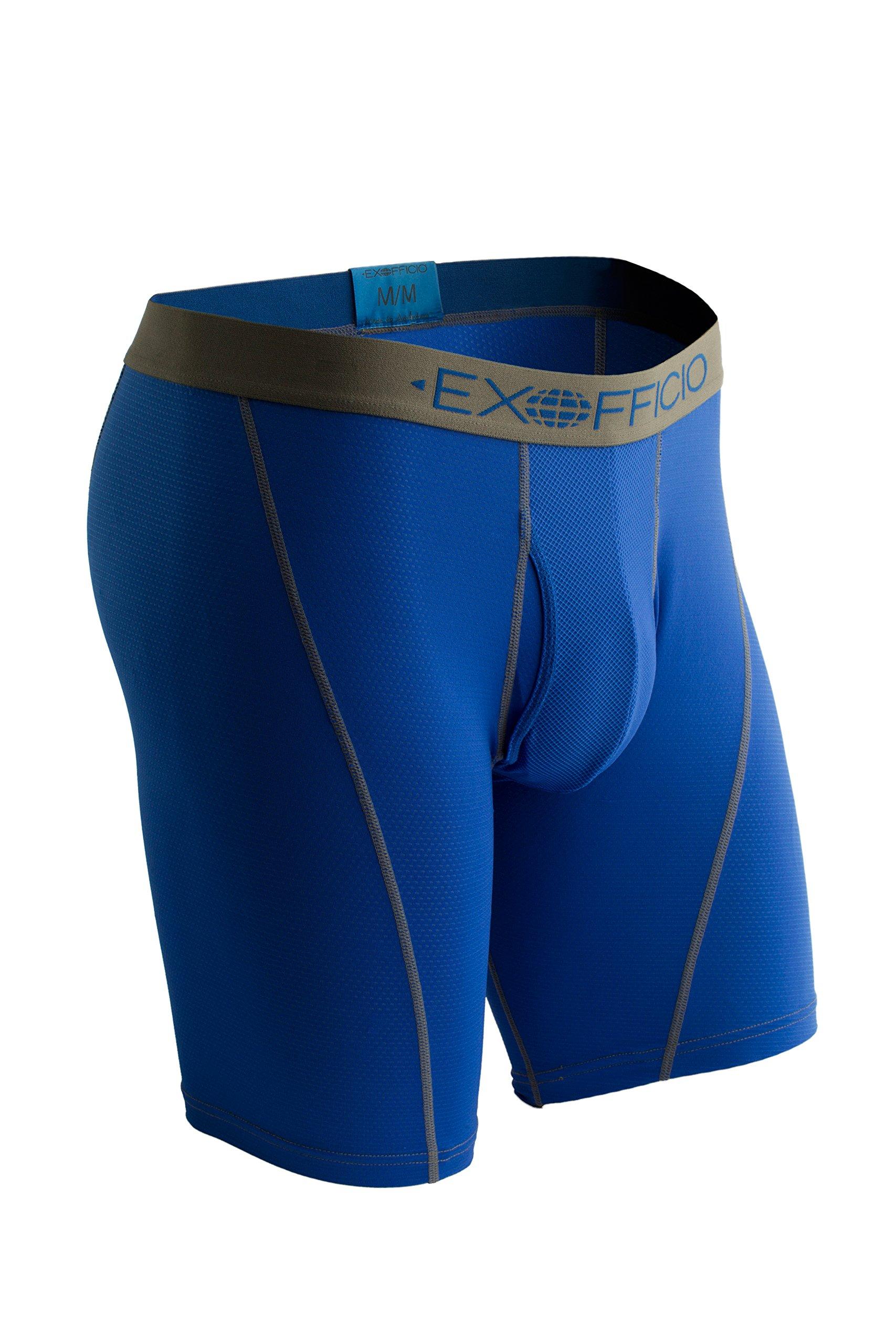 ExOfficio Men's Give-N-Go Sport Mesh 9'' Boxer Brief,X-Large,Royal