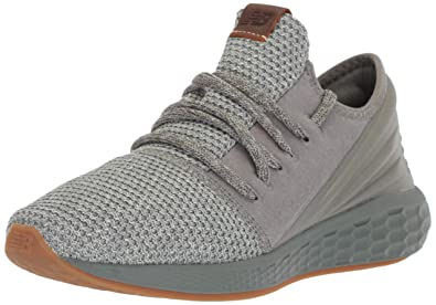 New Balance Men's Cruz V2 Fresh Foam Running Shoe, sedona sagestone grey, 1.5 2E US