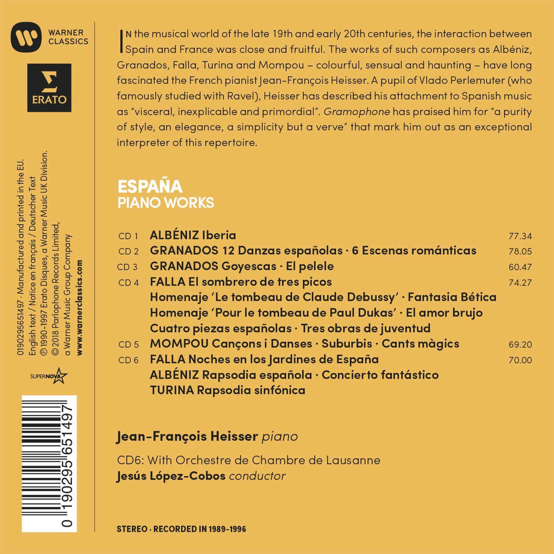 Espana: Albeniz, Falla, Granados, Mompou, Turina: Jean-Francois Heisser: Amazon.es: Música