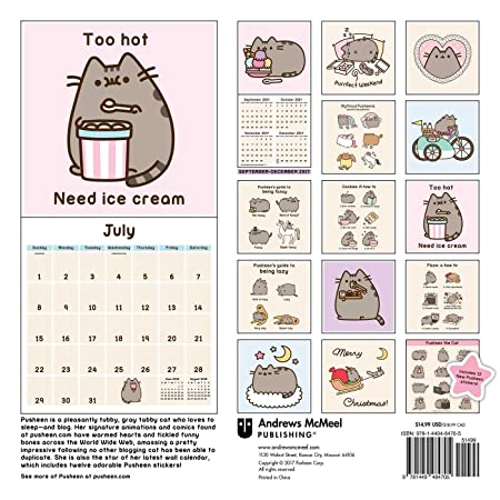 Amazon.com: Pusheen 2018 The Cat Wall Calendar: Home & Kitchen