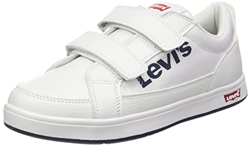 Levis Kids Denver 2 Velcro Jun, Zapatillas Unisex niños, Blanc (White),