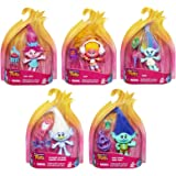 Set of 5: DreamWorks Trolls Collectible Figures - Poppy, Branch, DJ Suki, Harper, Guy Diamond