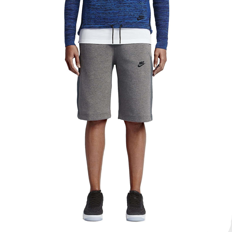 Nike Women's Tech Fleece Mesh ShortsCarbon Grey Heather