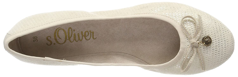 S.Oliver Damen (Beige 22106 Geschlossene Ballerinas Beige (Beige Damen Struct.) 0f9ce7
