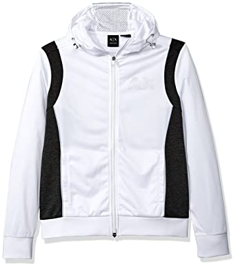 3ac09b46d3bf86 Amazon.com: A|X Armani Exchange Men's Sporty Full Zip Hoodie with  Reflective Logo: Clothing