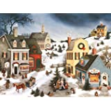 """LANG -""""Caroling in the Village"""", Boxed Christmas Cards, Artwork by Linda Nelson Stocks"""" - 18 Cards, 19 envelopes - 5.375"""" x 6"""