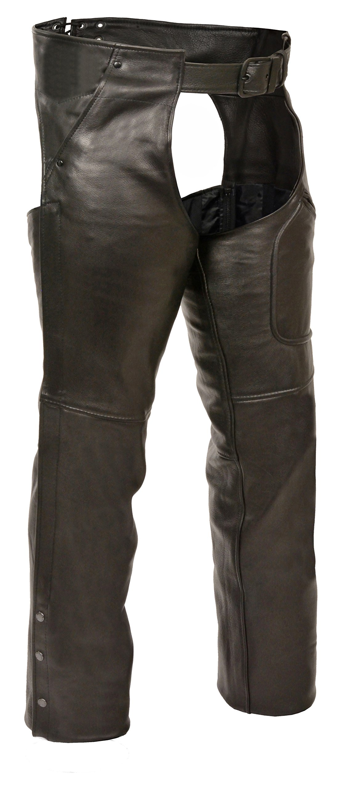 Milwaukee Men's 3 Pocket Chap with Thigh Patch Pocket (Black, X-Small)