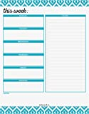 """Weekly Planner Pad by Julianne & Co - Premium Weekday & Weekend Task Organizer, Undated Appointment & To-Do Tear-Away Notepad, Organize & Plan Chores & Meetings - 8.5""""x 11"""" - 50 Paper Sheets"""