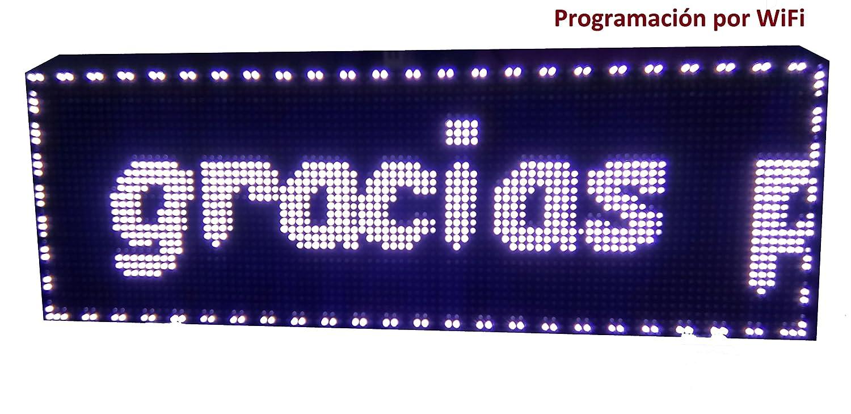 Cartel LED programable por WiFi / Letrero programable ...