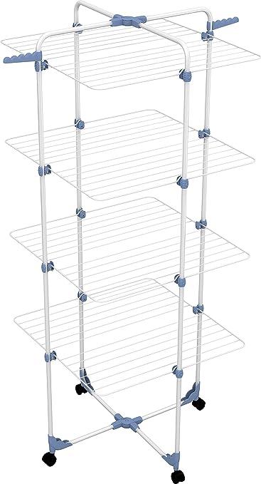 337 opinioni per Gimi Modular 4 Stendibiancheria da Pavimento a Torre in Acciaio, 40 m Stendibili