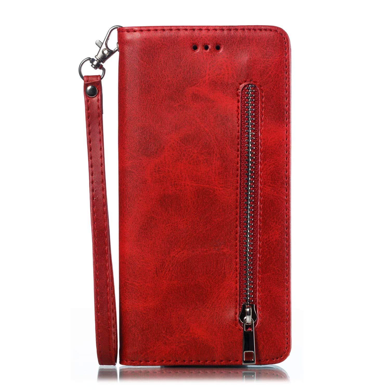 Galaxy A50 H/ülle f/ür Samsung Galaxy A50 Handyh/ülle Case PU Leder Tasche Schutzh/ülle Handytasche Schutz Etui Brieftasche Flipcase mit St/änder und Rei/ßverschluss Magnetverschluss Gelb