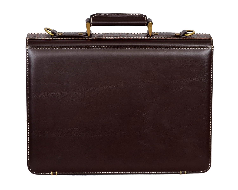 Mens 5996 Brown Crocodile Print Messenger Shoulder Laptop Office Flap over Briefcase Leather Bag