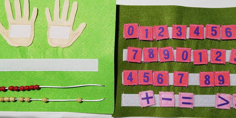 Ábaco para libro de actividades tipo Montessori, Quiet Book, Sensorial y tranquilo.