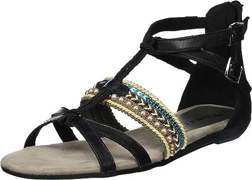 damen sandalen römischen tamaris schwarz verbena amazon