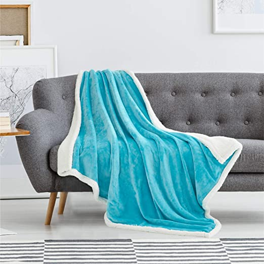 Teal 100/% Cotton Sofa Bed Throw Single Double King Size Throws