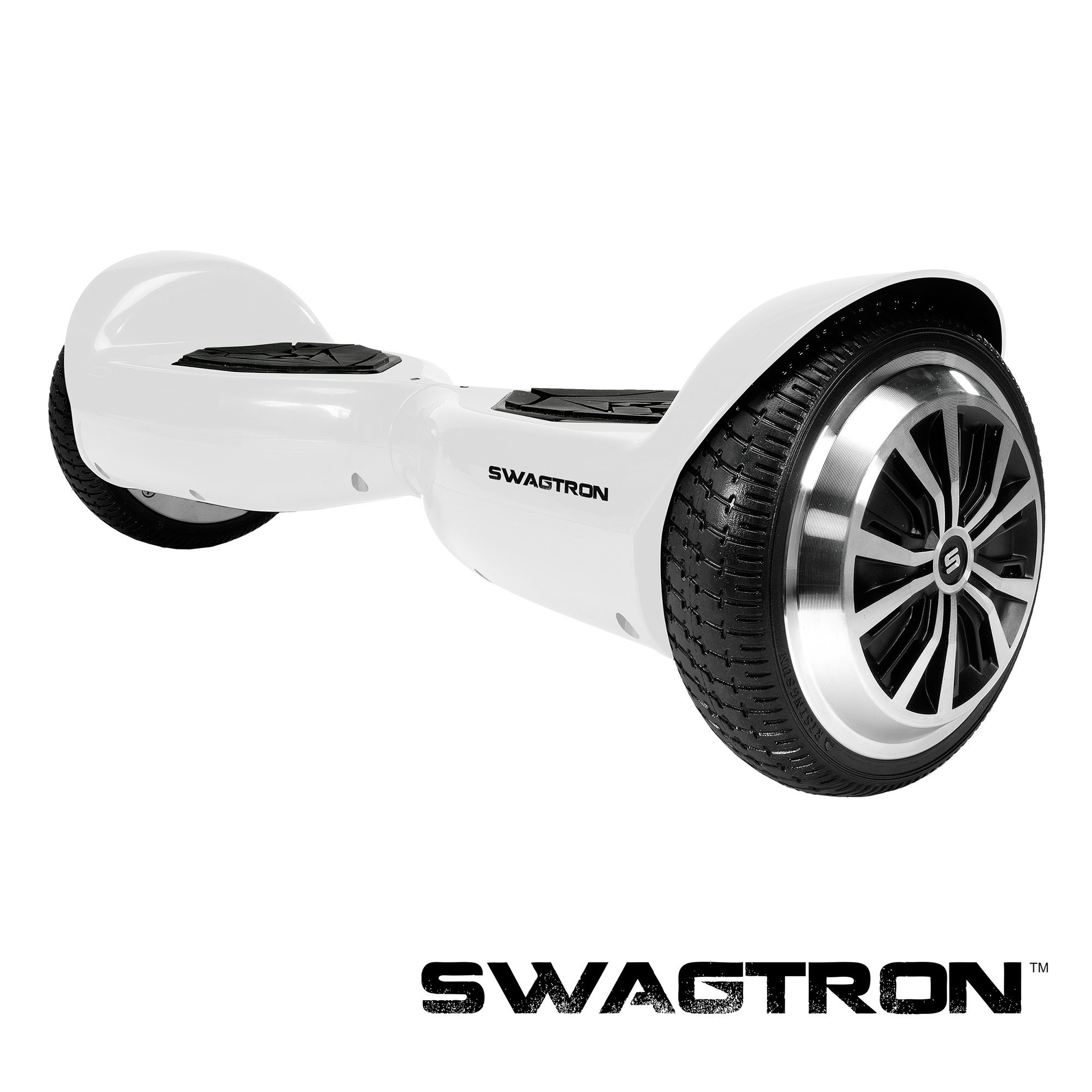 Swagtron 80668-5 T5 Entry Level Hoverboard for Kids and Young Adults; Optional Learning Mode (White) by Swagtron