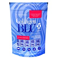 Collagen BLU Premium Marine Collagen with Superfood Derived Vitamin C for Best Absorption, Type 1 and 3, Non-GMO, Paleo & Keto Friendly, 30 Stick Packs