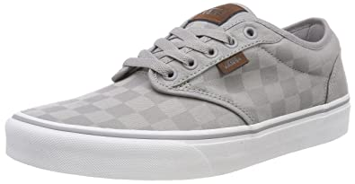 e118cc484a7dc7 Vans Men s Atwood Checkerboard Low-top Sneakers Grey ((Check Jacquard)  Alloy