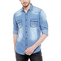 Dennis Lingo Men's Solid Slim Fit Casual Shirt