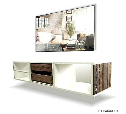 Mueble para TV Upcycling llevó cajas de vino de Palatinado Villa, madera, blanco