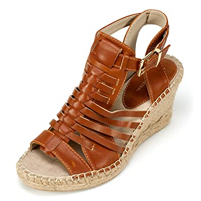 23c5648420c76 White Mountain Women's Linley Espadrille Wedge Sandal